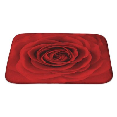 Flowers Rose Flower, Oil Painting Bath Rug Size: Large