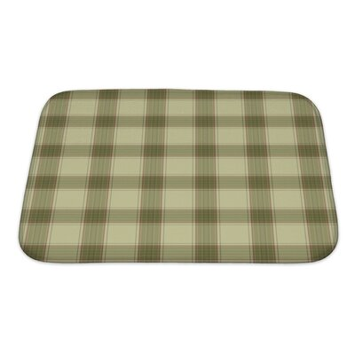 Picnic Plaid in Soft Tones with Terra Cotta Accents Bath Rug Size: Small
