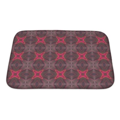 Simple Ethnic Pattern Geometric Kaleidoscope Bath Rug Size: Small