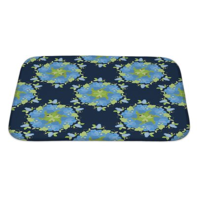 Simple Floral Vintage Bath Rug Size: Large