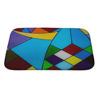 Art Hard Multicolored Glass Mosaic Bath Rug Size: Large