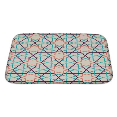 Slide Modern Tangled Pattern Bath Rug Size: Large