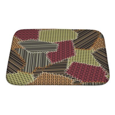 Beta with Patchwork Pattern Bath Rug Size: Small