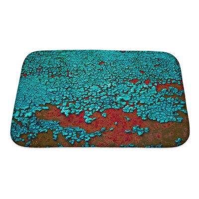 Landscapes Cracked Paint on the Metal Surface Bath Rug Size: Small