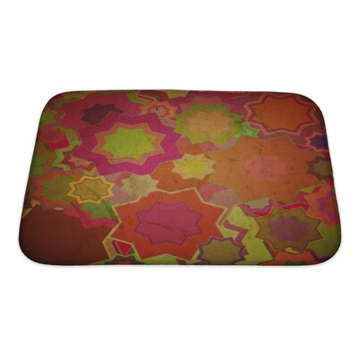 Beta Grunge Flower Bath Rug Size: Small