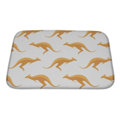 Animals with Kangaroos Bath Rug Size: Small