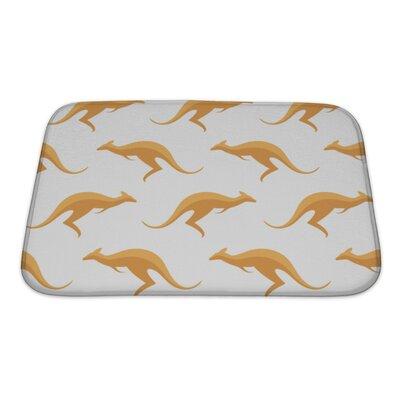 Animals with Kangaroos Bath Rug Size: Small