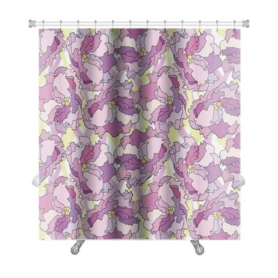 Charlie Flowers Repeating Premium Shower Curtain