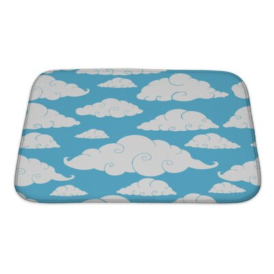 Charlie Cloud Bath Rug Size: Small