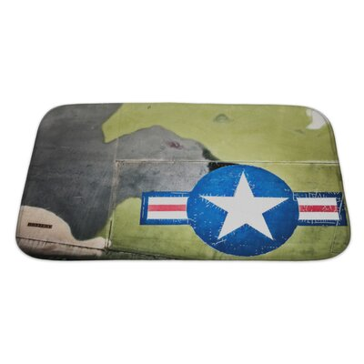 Patriotic Airplane with United States Air Force Sign Bath Rug Size: Large
