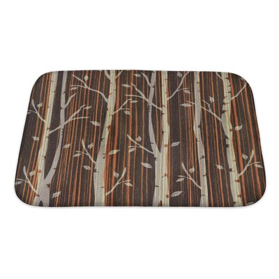 Nature Decorative Trees Ebony Wood Bath Rug Size: Small