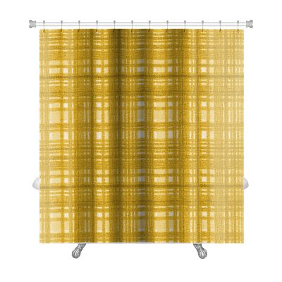 Gecko Plaid Premium Shower Curtain
