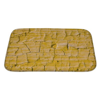 Earth Cracked Paint Bath Rug Size: Large