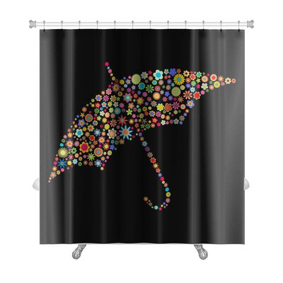 Flowers Umbrella Shape Made Up a Lot of Small Flowers Premium Shower Curtain