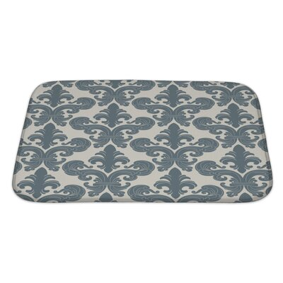 Alpha From a Floral Ornament, Fashionable Modern Wallpaper or Textile Bath Rug Size: Large