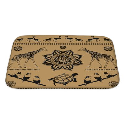 Animals Decorative Pattern from Animals and Birds Bath Rug Size: Large
