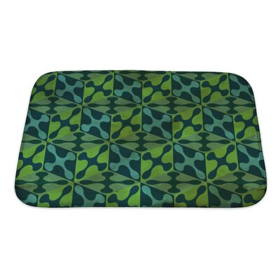 Gamma Vintage Pattern Geometric Bath Rug Size: Small, Color: Green
