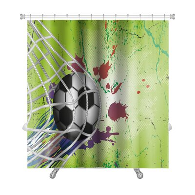 Soccer Soccer Ball Premium Shower Curtain