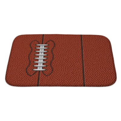 Soccer with Highly Detailed of American Football Bath Rug Size: Large