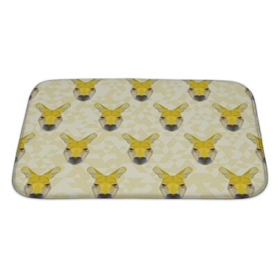 Animals Abstract Polygonal Kangaroo Bath Rug Size: Large