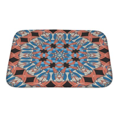 Delta Mandala Ornament Vintage Pattern Bath Rug Size: Small