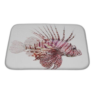 Fish Lionfish, Pterois Volitans Bath Rug Size: Small