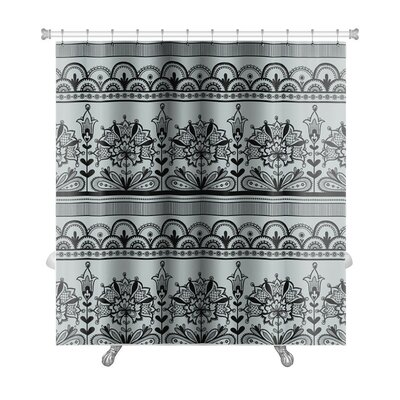 Gecko Lace Pattern Premium Shower Curtain