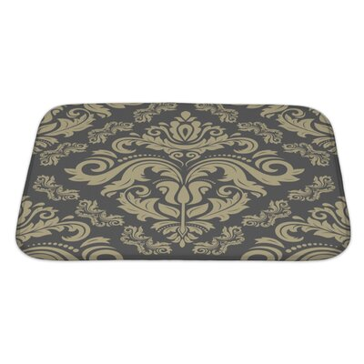 Slide Damask Ornament Pattern Bath Rug Size: Large