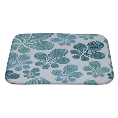 Nature Beautiful Tropical Leaf Eps10 Bath Rug Size: Large