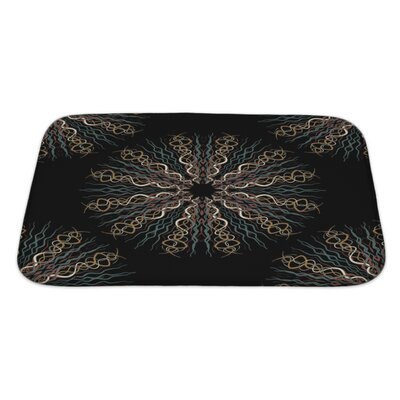 Slide Abstract Flower Pattern Bath Rug Size: Large