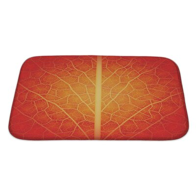 Leaves Creative with Leaf Pattern Drawn Manually Bath Rug Size: Large