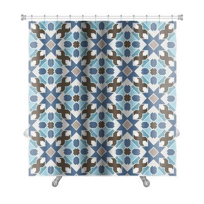 Delta Abstract Geometric Islamic Wallpaper Arabic Colorful Premium Shower Curtain