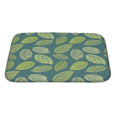 Leaves Vintage Pattern for Leaves Retro Ornament Bath Rug Size: Large