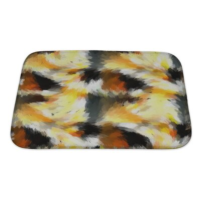 Art Beta Abstract Expressionistic in Battle and Explosions Tones Bath Rug Size: Small