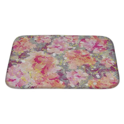 Art Primo Watercolor Flower Bath Rug Size: Large