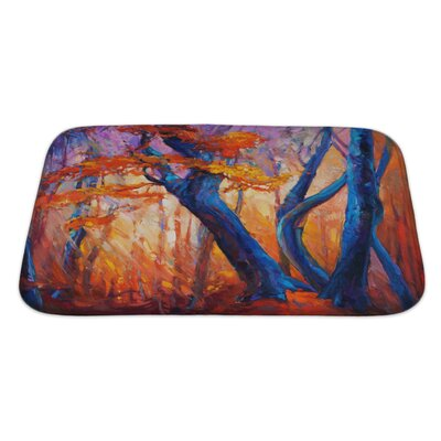 Gamma Beautiful Autumn Tree Modern Impressionism Bath Rug Size: Large