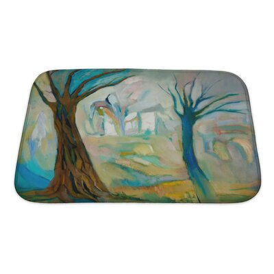 Art Alpha Two Dead Trees in the Wood Bath Rug Size: Small