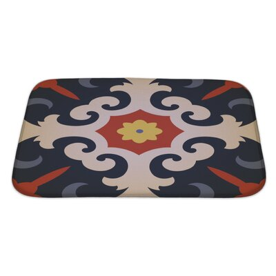 Delta Oriental Traditional Floral Ornament, Moroccan Pattern Bath Rug Size: Large