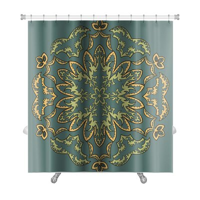 Slide Islamic Pattern Premium Shower Curtain