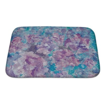 Art Primo Abstract Watercolor Flower in Impressionism Style Bath Rug Size: Small