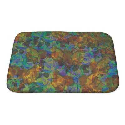 Kilo Abstract Flower Bath Rug Size: Small