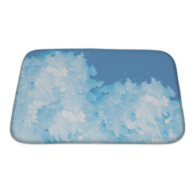 Slide Abstract Watercolor Flower Bath Rug Size: Small