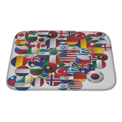 Earth Random Editable Graphic Bath Rug Size: Small