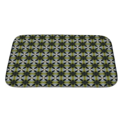 Slide Ethnic Pattern Geometric Kaleidoscope Bath Rug Size: Large