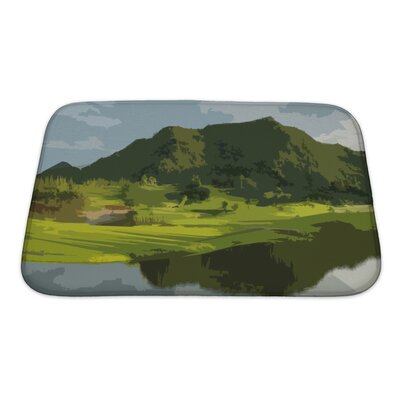 Landscapes Landscape Backdrop Abstract Art Bath Rug Size: Small