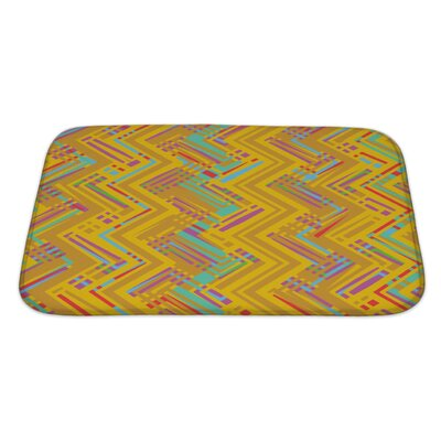 Beta Chevron Pattern Bath Rug Size: Large