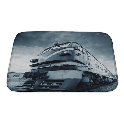 Vintage Abandoned Vintage Train, Out of Years of Rusting Bath Rug Size: Small