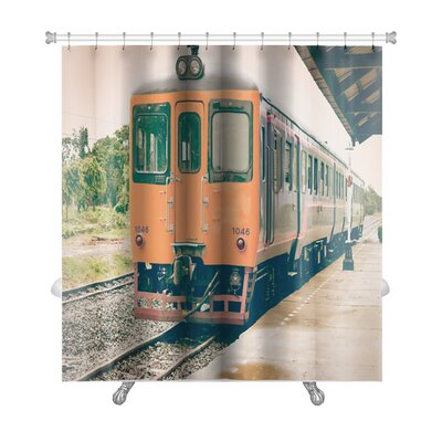 Vintage Old Vintage Train Premium Shower Curtain
