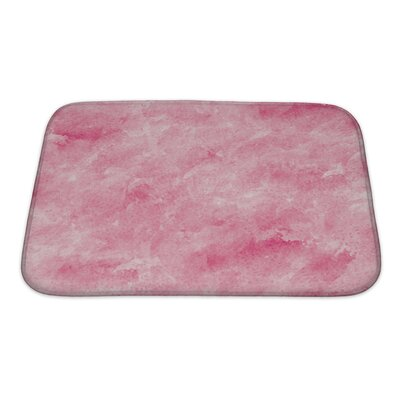 Art Primo Abstract Watercolor Impressionism Style Bath Rug Size: Small
