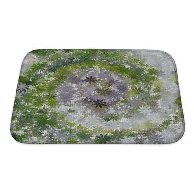 Art Beta Summer Garden Abstract Bath Rug Size: Small
